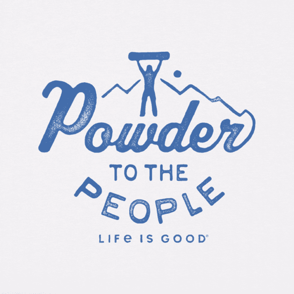 Powder to the People long sleeve tee