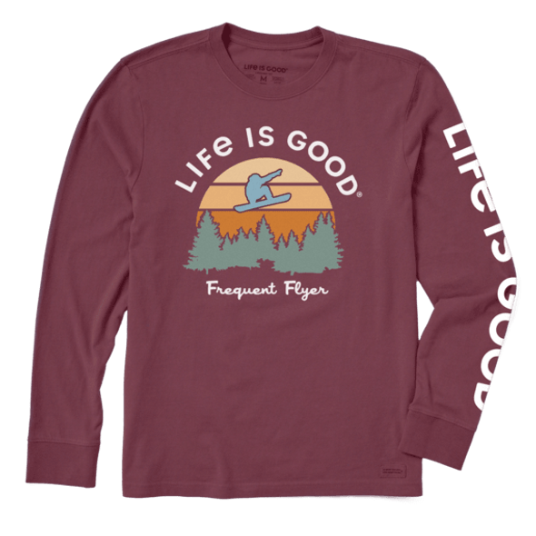 Frequent Flyer Snowboarder long sleeve tee