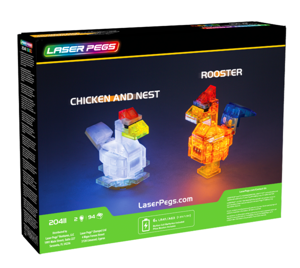 Laser Pegs Chicken & Rooster
