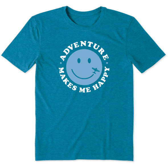 Adventure Makes Me Happy Cool men's tee
