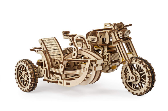 UGears Motorcycle w/Sidecar