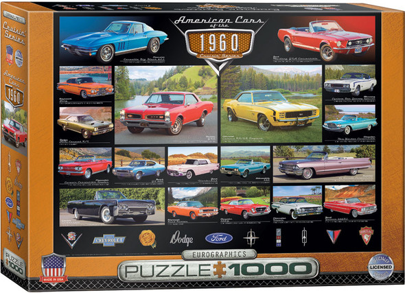 1960s American Cars 1000pc Puzzle