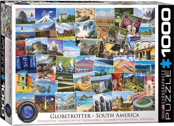 South American Globetrotter 1000pc Puzzle