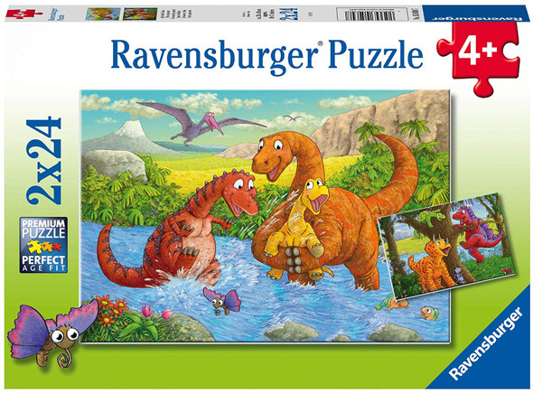Dinosaurs at Play 2x24pc Puzzle