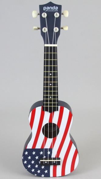 USA Flag Panda Ukulele