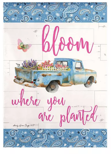 Bloom Where You Are Planted Banner