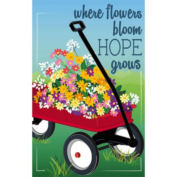 Wildflower Wagon Garden Linen Banner