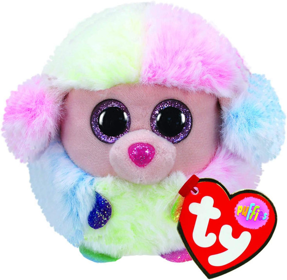 Rainbow Poodle Puff