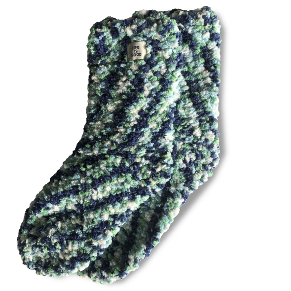Women's PomPom Socks- Green