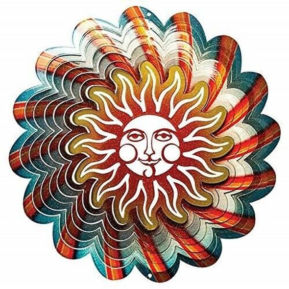 Blue Sun Wind Spinner