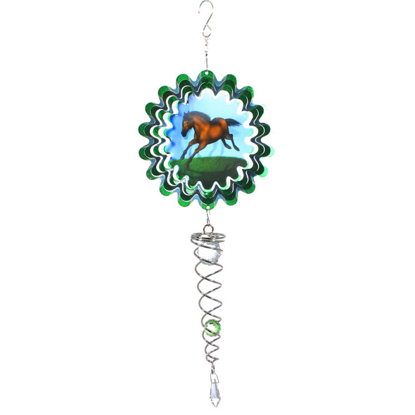 Horse Mirror Small Wind Spinner