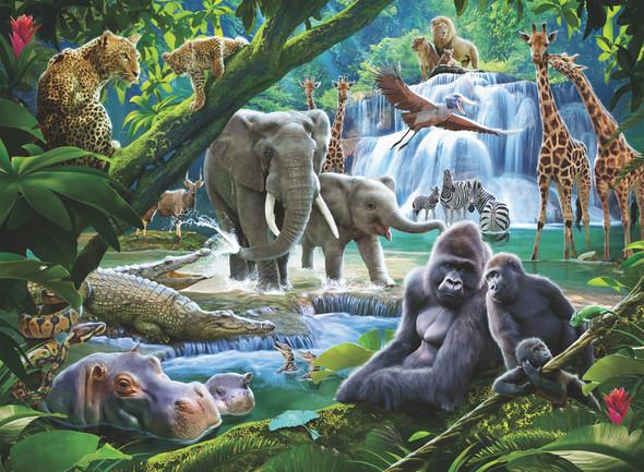 Jungle Animals 100pc Puzzle