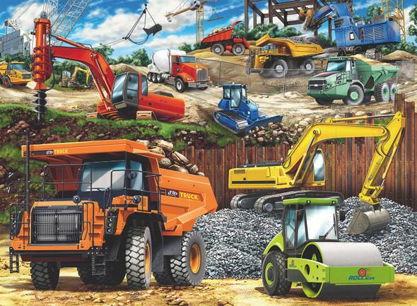 Construction Vehicles 100pc Puzzle