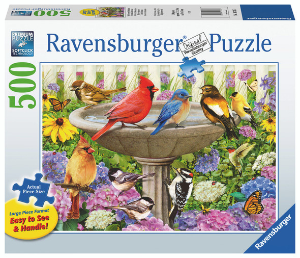 At the Birdbath 500pc XL Puzzle