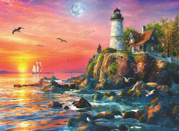 Lighthouse at Sunset 500pc Puzzle
