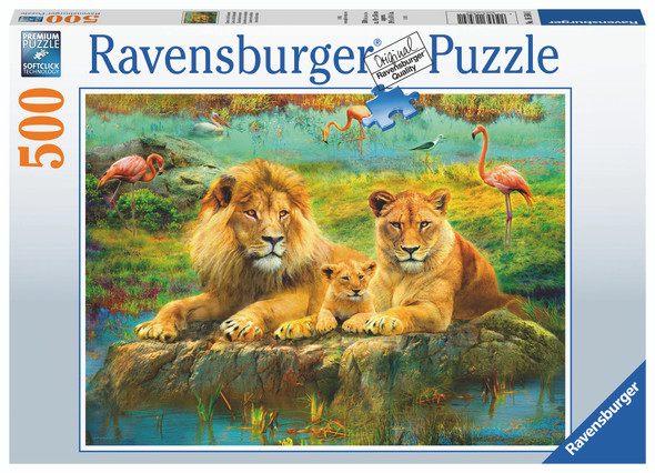Lions in the Savannah 500pc Puzzle