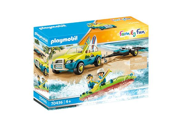 Beach Car with Canoe