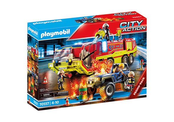 Fire Engine with Truck