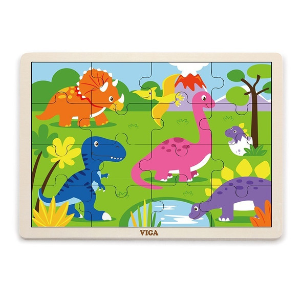Dinosaurs 24pc Wooden Puzzle