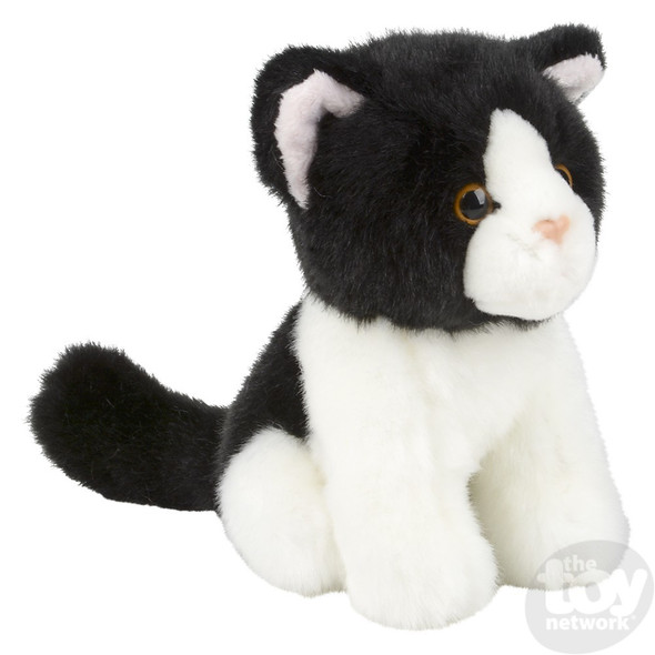 Black & White Cat Plush