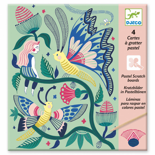 Fantasy Garden Pastel Scratch Board