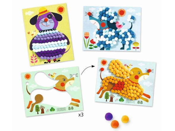 Pom Pom Puppies Mosaic