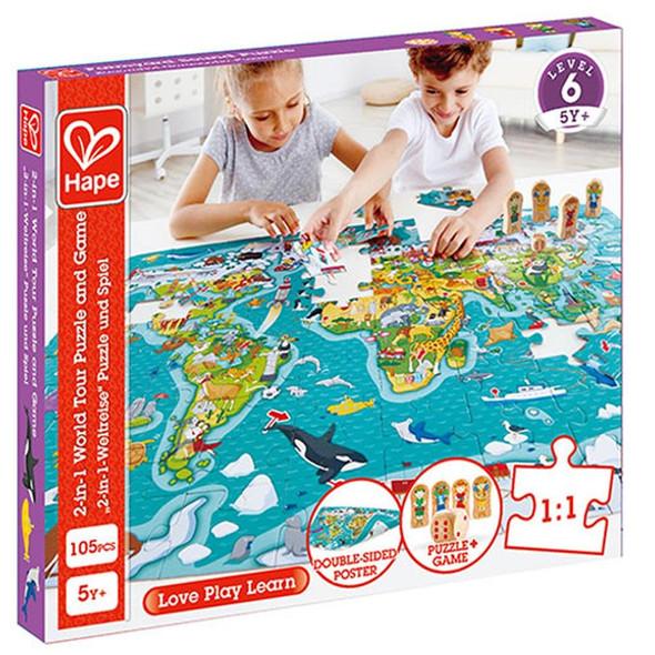 World Tour 105pc Floor Puzzle