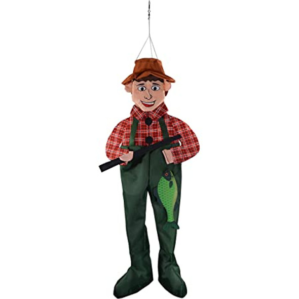 Fred Fishing Guy 3D Windsock