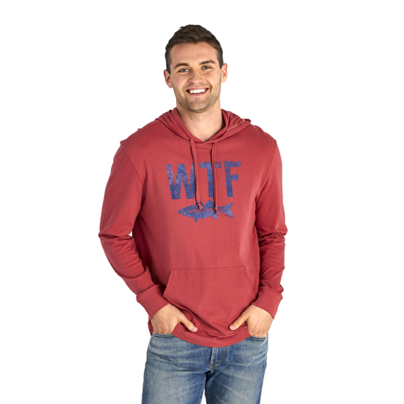 Men's WTF long sleeve hooded tee