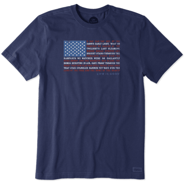 Men's Anthem Flag short sleeve tee
