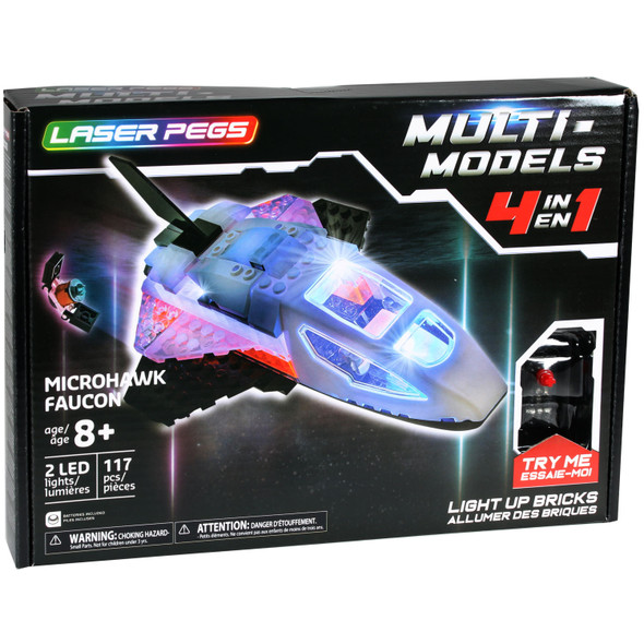 Laser Pegs 4 in 1 Microhawk Set