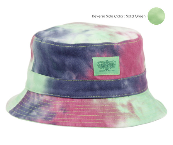 Lime Green/Tie Dye Bucket Hat