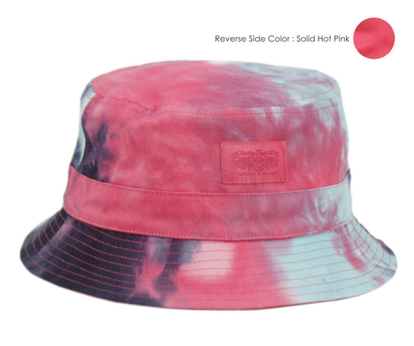 Hot Pink/Tie Dye Bucket Hat
