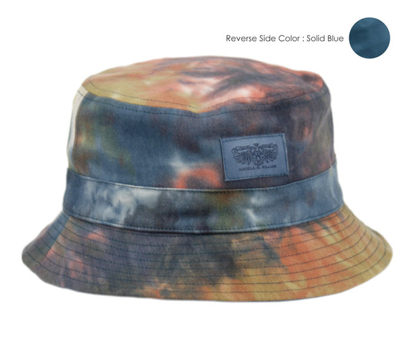Solid Blue/Tie Dye Bucket Hat