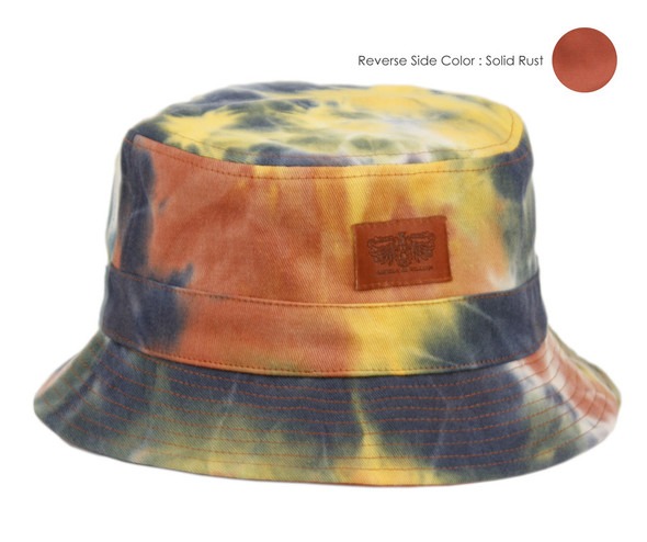 Rust/Tie Dye Bucket Hat