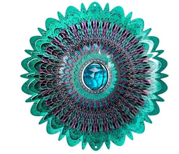 Crystal Cosmic Mandala Wind Spinner
