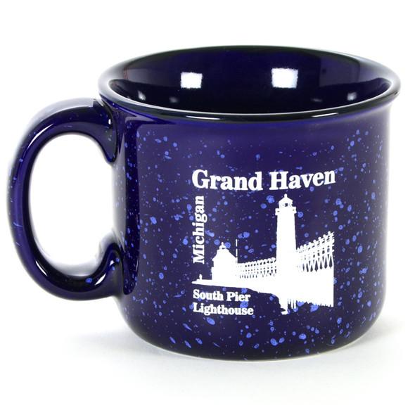 Grand Haven Pier Campfire Mug - Blue
