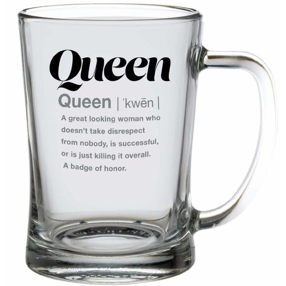 Slang Gang Queen Glass Mug