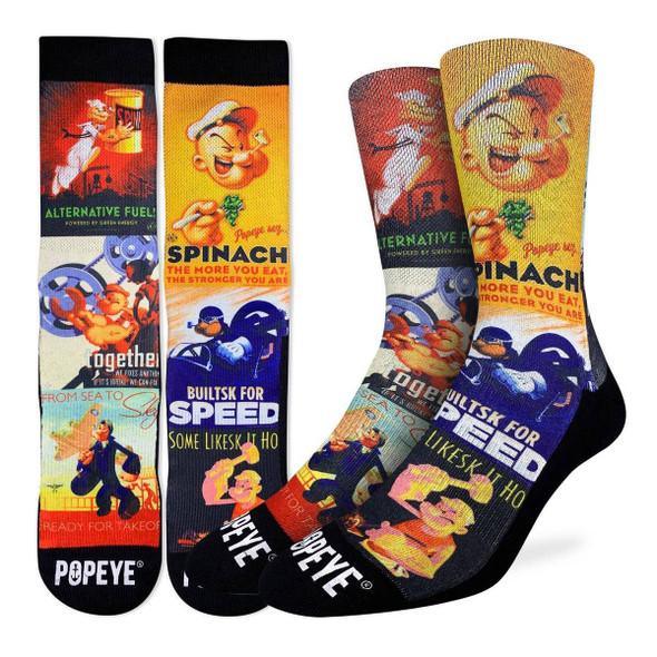 Pop Eye Poster Socks