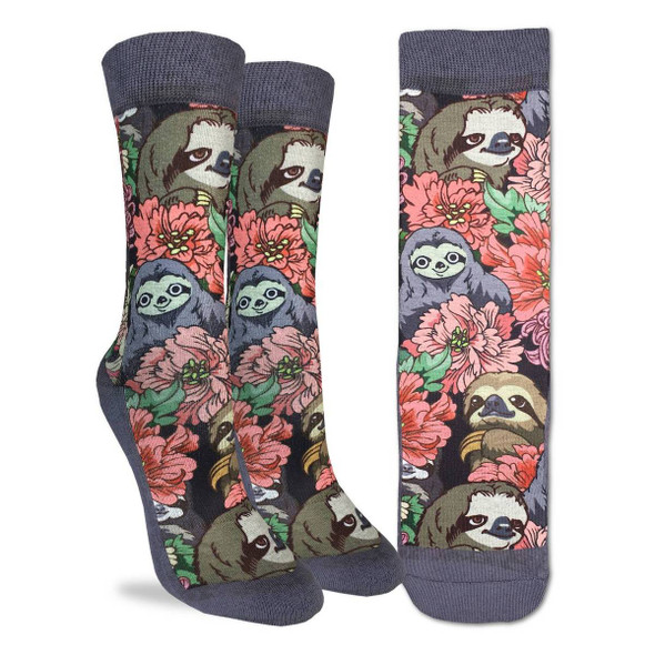 Floral Pandas Small Socks