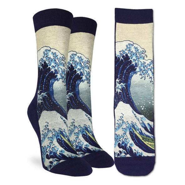Great Wave Kingdom Large Socks