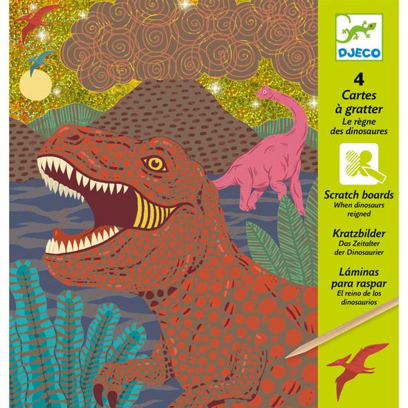 Dinosaurs Reigned Pastel Scratch Board