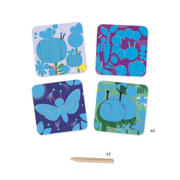 Bugs Pastel Scratch Board