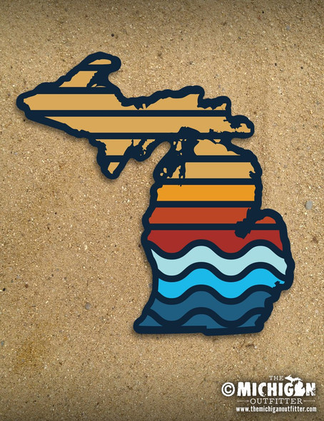 Color Bars Michigan Sticker