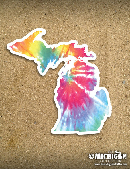 Tie Dye Michigan Sticker