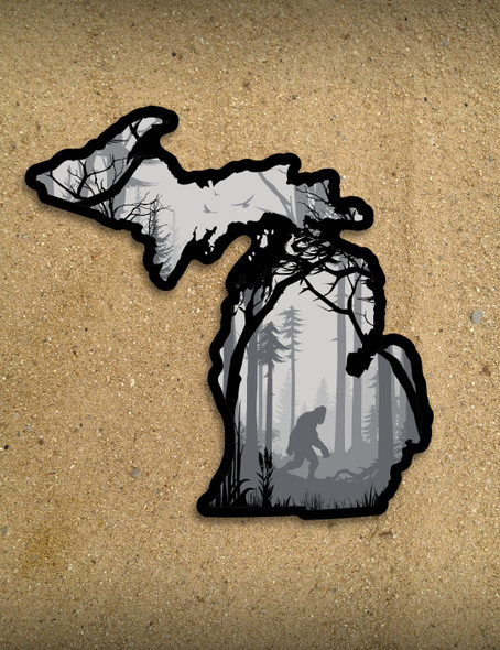 Bigfoot Forest Michigan Sticker