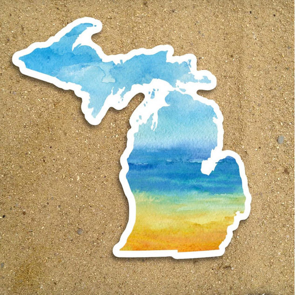 Watercolor Michigan Sticker