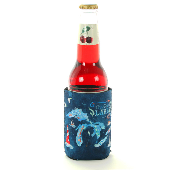 Watercolor Great Lakes Coozie