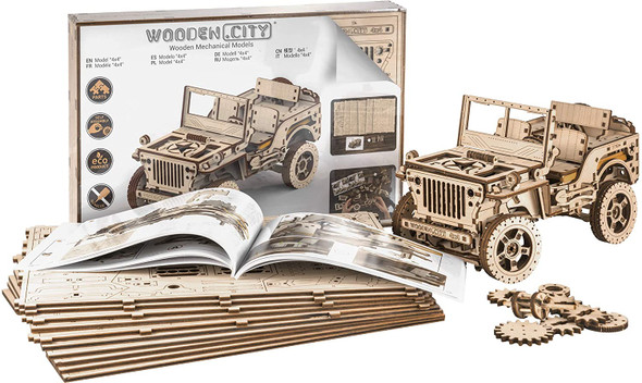 Wooden City: 4x4 Jeep