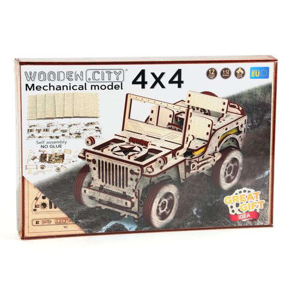 Wooden City 4x4 Jeep Model